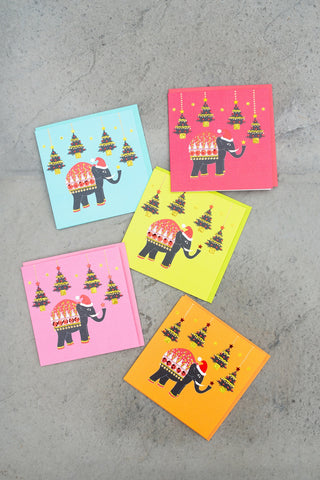 Christmas Elephant Card