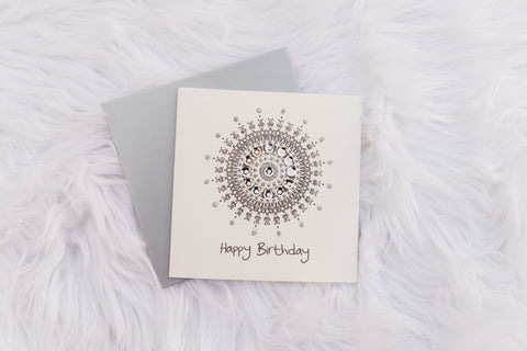 Silver Sun Birthday Card