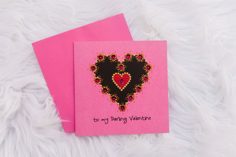 Pink Darling Valentine Card