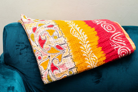 Kantha Throw 3' x 6'