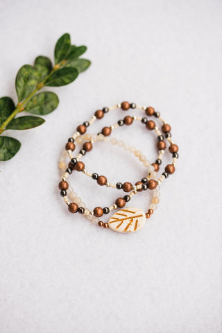 Leaf Trio Stretch Bracelet