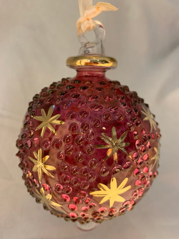 Red Raised Dot Ball Ornament