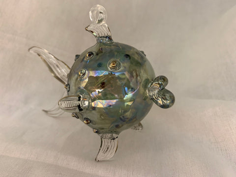 Green Pufferfish Ornament
