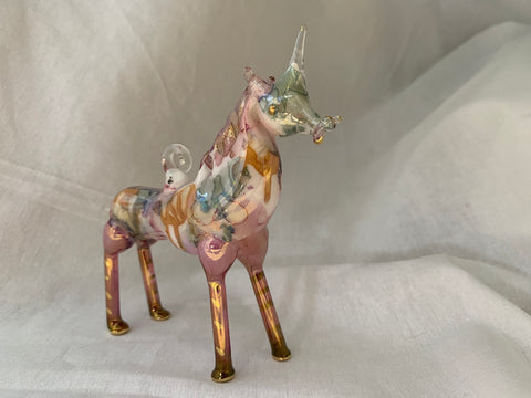 Unicorn Pink Ceramic Ornament
