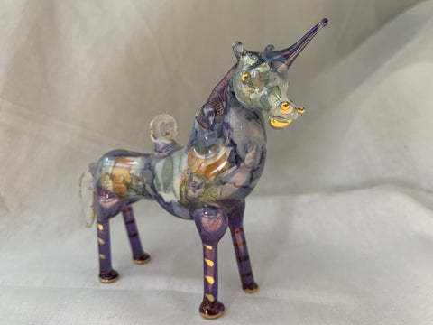 Unicorn Blue Ceramic Ornament
