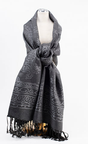 Dark Grey / Black Pashmina