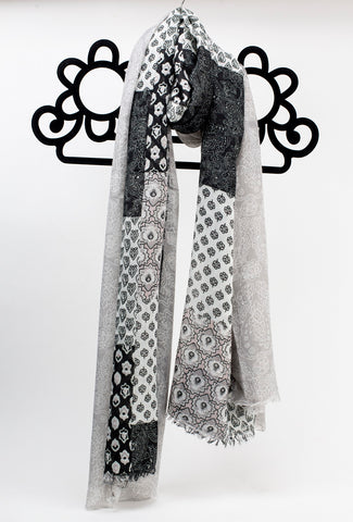 Mandy Scarf - Black & Grey