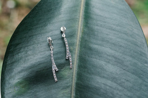Sterling Silver & Marcasite Earrings