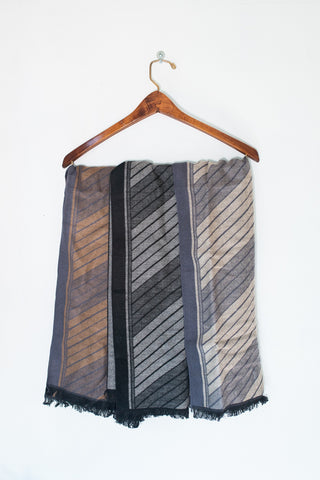 Mens Wool & Poly Blend Scarf