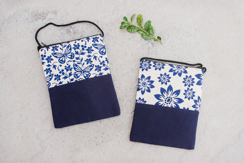 Small Blue Indigo bags