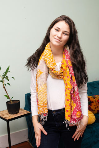 Kantha Anthropology Scarf