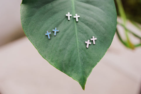 Cross Earings Assorted Colors