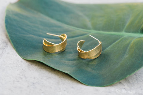 Gold Mini Thick Hoop Earrings