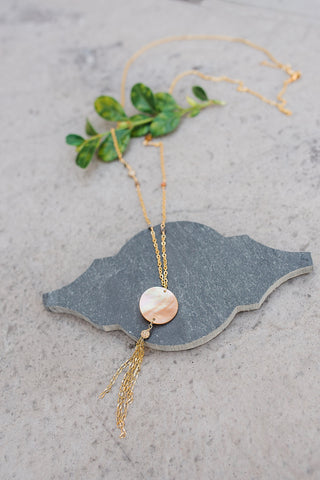 Mother of Pearl and Jasper Necklace