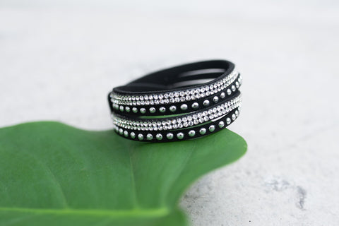 Black Magnetic Bling Bracelet