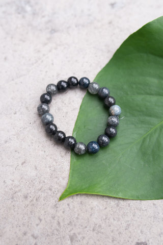 Glass Dark Grey Bracelet