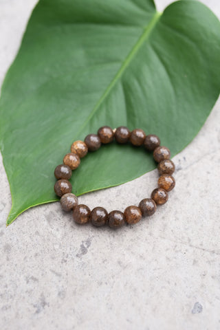 Glass Taupe Bracelet