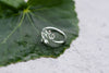 Sterling Silver Leaf Ring Size 7
