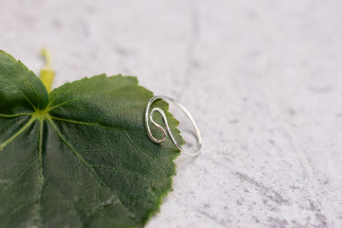 Sterling Silver Spiral Ring Size 8