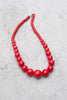 Red Howlite Necklace 18""