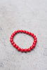 Small Red Howlite Bracelet