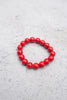 Large Red Howlite Bracelet