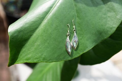 Abalone & Sterling Silver Earrings