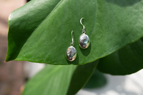 Abalone & Sterling Silver Oval