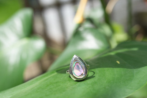 Abalone & Sterling Silver LG R