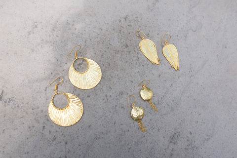 Gold Color Plating Earrings