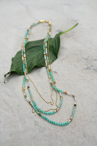 Charming Jewell Green Necklace