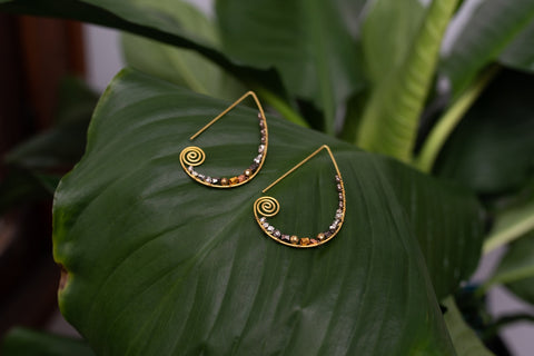 Golden Swirl Earrings