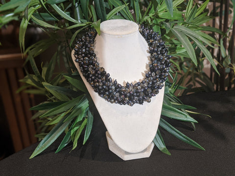Big Pearl Necklace Black