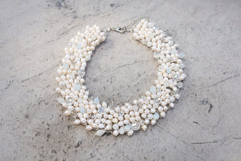 Big Pearl Necklace White Necklace
