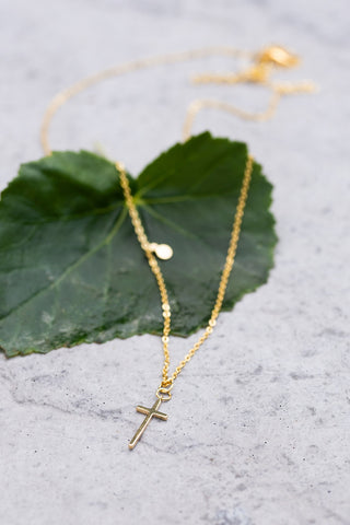 Modest Gold Cross Necklace
