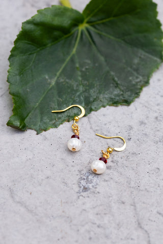 January Birthstone Earrings