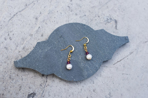 February Birthstone Earrings