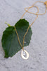 Gold Petal & Silver Leaf Necklace