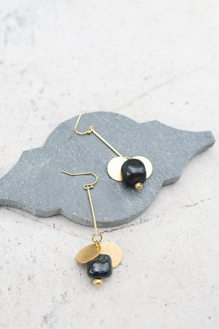 Black Hawkeye Earrings