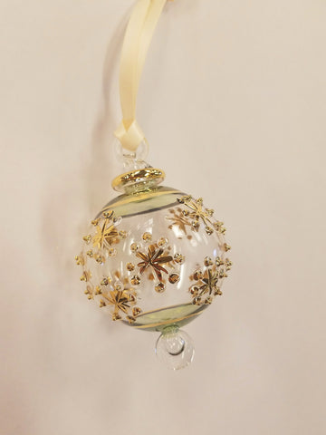 Snowflake Ball Ornament Green