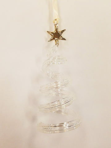 Spiral Tree Ornament Clear - Ornaments - WAR Chest Boutique
