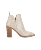 Dolce Vita Croco White leather bootie