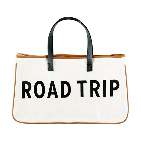 canvas tote road trip bag