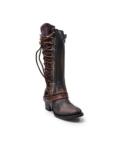 Steve madden freebird boot cash lacing leather tall women's saks anthropologie free people