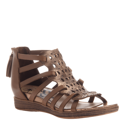 OTBT Bonitas Gladiator In Copper Flat Sandal