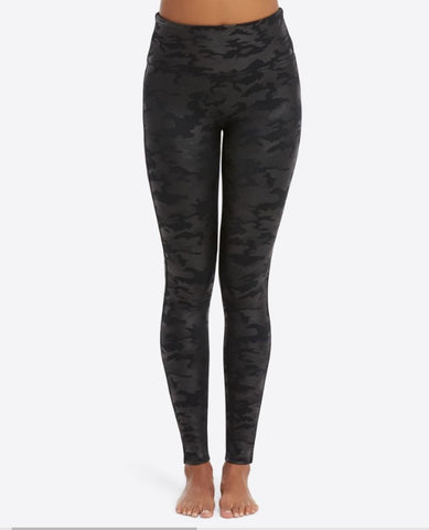 spanx legging faux leather camo