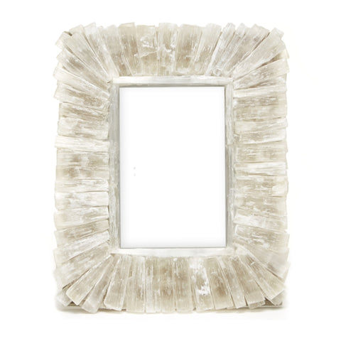 selenite photo frame agate tozai