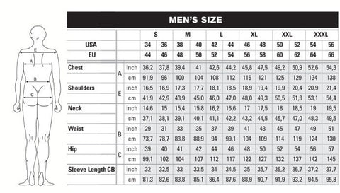Mens & Womens size chart for clothing and apparel – Left Coast Threads