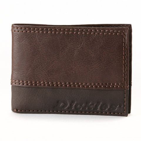 Dickies Slim Bifold Mens Leather Wallet Brown 31DI1305 - Left Coast Threads