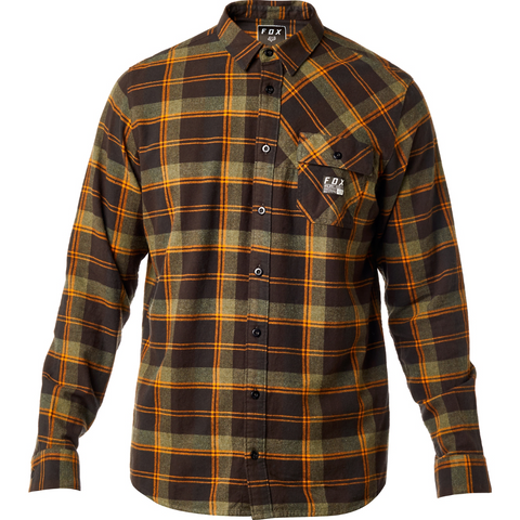 Fox Men's Drezzy Flannel Dark Fatigue 20427-161